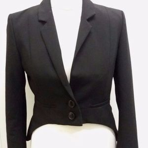 H&M Jackets & Coats - Cropped Black and Leopard Blazer